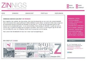Wordpress website - zinnigs.nl